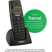 Telefone Intelbras Ramal S/f Ts40r Preto