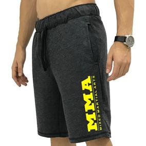 Bermuda Moletom Academia Shorts Moleton Moletim Slim Fit