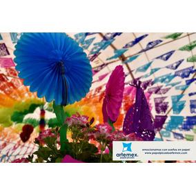Decoración Flores De Papel Picado Fiesta Mexicana Artemex