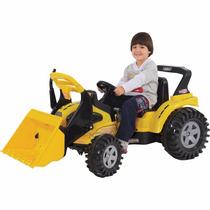 Trator Elétrico Criança 6v + Pá Articulável Brinquedo C/ Som