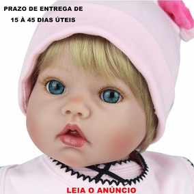 Boneca Bebê Reborn Original Detalhes Reais Importada+brindes