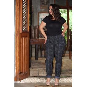 Calça Jeans Estampada Tamanho Grande 50/56 E 60 Ref 1560