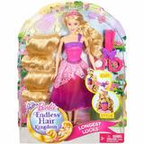 Brinquedo Barbie Princesa Loira Corte Encantado Mattel Dkm23