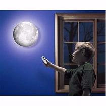 Abajur Luminária De Parede Led Lua 6 Fases Controle Remoto