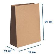 Saco Papel Kraft M - 18x36x10 - Sem Impressão 100 U