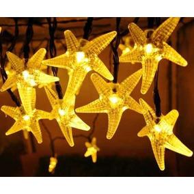 30 Luces Led Solares Con Forma De Estrella De Mar.