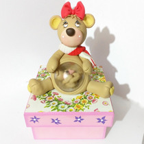 Regalo Alhajero Caja Bebé Baby Shower Oso Osita Embarazo