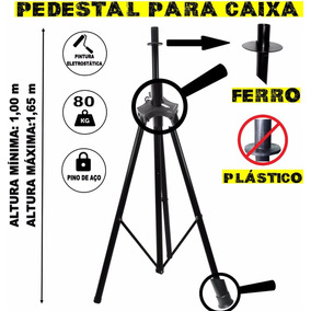 1 Pedestal Suporte Tripé P/caixa De Som Regulável E Portátil