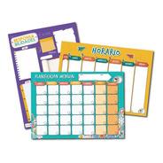 Paneles Horario, Calendario Mensual Y Responsabilidades