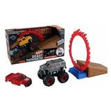Monster Jam Monster Truck Set Acrobatico Camioneta + Rampa