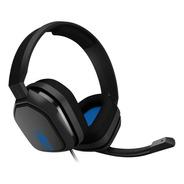 Auriculares Gamer Astro A10 Gris Y Azul Ps4