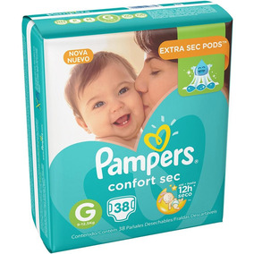 Kit 2 Fralda Pampers Confort Sec Mega Xg - 34 Unid-68 Total