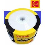 Pack De 50 Unidades Dvd-r Kodak Vírgenes Cubierta Imprimible