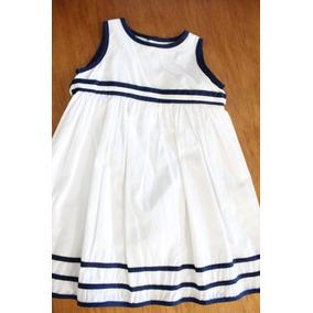 Vestido Blanco Y Azul. Talla 3. Marca Epk.