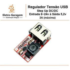 Regulador Tensão Step Up Dc 6~24v Para 5,5v + Frete R$11,00