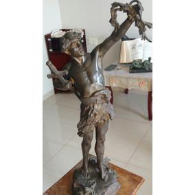 Escultura Bronze Jean Baptiste Lemoyne Datada Volta De 1924