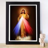 Quadro Imagem Jesus Cristo Igreja Cristão Moldura E Vidro