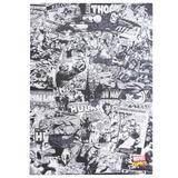 Quadro Canvas 70 X 50 Cm Comics Preto E Branco 10080490
