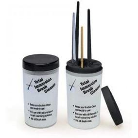 Pincel Vaso Limpia Pinceles Uñas Acrilico Práctico Accesorio