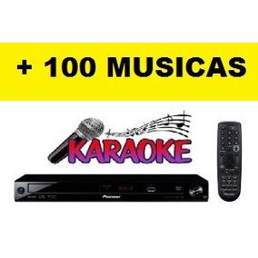Aparelho De Karaoke Pioneer Dvd Usb + 100 Musicas
