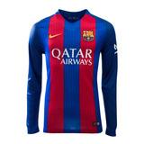 Camiseta Barcelona Titular 2016/2017 Manga Larga