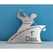 21 Trofeo Placa Plateada Futbol Patin Tenis Golf  X 15 Cm