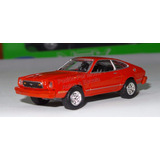 1:60 Ford Mustang Ii 1977 Rojo Motor Max 1:64 Shelby
