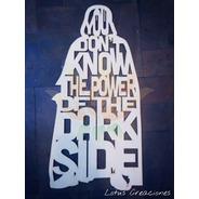 Cuadro Darth Vader Star Wars -corte Láser-