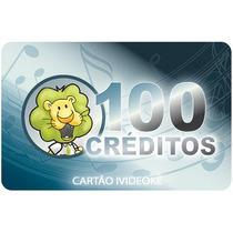 Videoke Cartão Pré-pago 100 Créditos Para Modelo 300/750/950