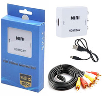 Envío Gratis Convertidor Hdmi A Rca + Cable Triple Rca