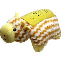 Luminária Musical Infantil Projetor Estrelas Girafa
