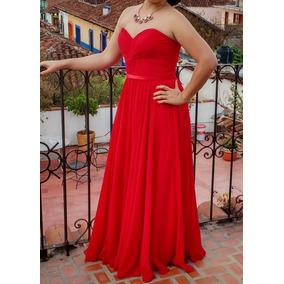 Hermoso Vestido De Noche Color Rojo