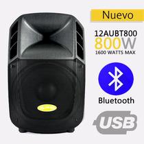 Corneta Amplificada Sps Audio 12aubt 800 Watts Bluetooth Usb