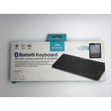 Teclado Bluetooth Para Ipad / Iphone / Ipod Merkury En Negro