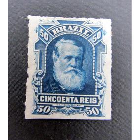 Selo Brasil Rhm39 D. Pedro I I 50rs 1877 Percé Barba Branca
