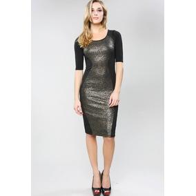 Vestido Negro/dorado