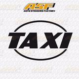 Sticker - Calcomania - Vinil - Rotulos Para Taxi (preguntar)