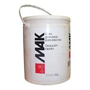 Balde X 4kg Cloro Granulado Mak  Disolucion Rapida 60g