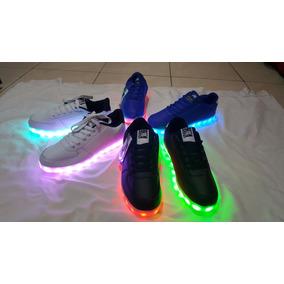 Zapatillas Con Luces Led 7 Colores Usb Unisex