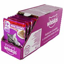 Whiskas Sachê Jelly Adulto Sabor Carne - Cx 18