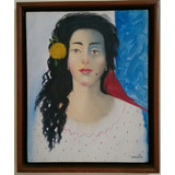 Quadro Tela Obra De Arte -omar Souto 1988 -50x40cm
