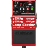 Pedal Boss Rc3 Loop Station Rc3 + Fonte Na Sonic Som