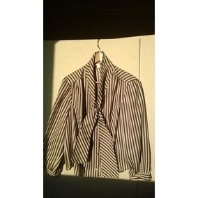 Blusa Dama De Vestir Lazos En El Cuello Marron