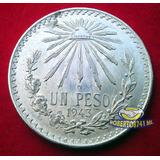 Moneda De Plata Un Peso Resplandor Año 1943