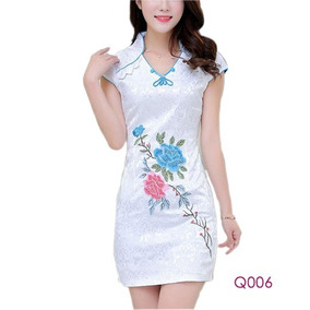 Vestido Qipao Kimono Importado Moda Asiática Envío Gratis