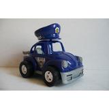 Vocho Vw Beetle Patrulla Policia - Camioncito Juguete Escala