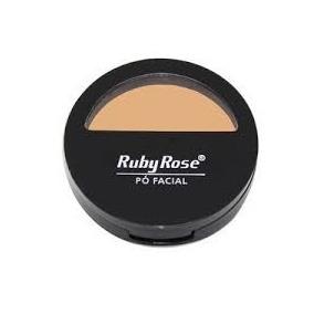 Pó Facial Compacto Ruby Rose 01 Ao 05 Com Espelho - Oferta