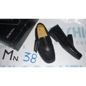 Zapato Calimod Nuevo Color Negro En Caja Tallas 38 Y 39