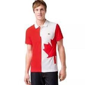 Camisa Polo Lacoste Paises Canada 100% Original Manga Curta ... 809595813d