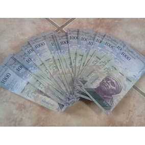 50 Cedulas 1000 Bolivares Soberbas 60 Reais